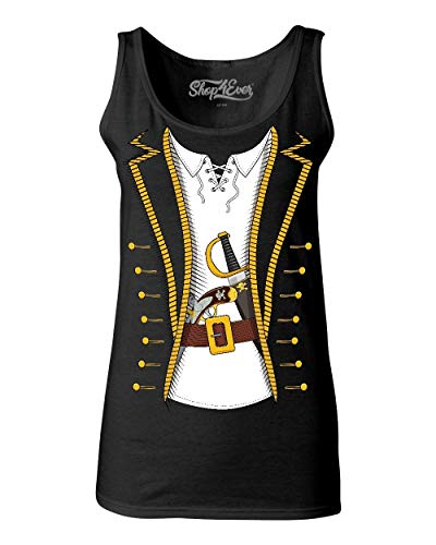 Shop4Ever Pirate Buccaneer Costume Women's Tank Top Small Black 0]()