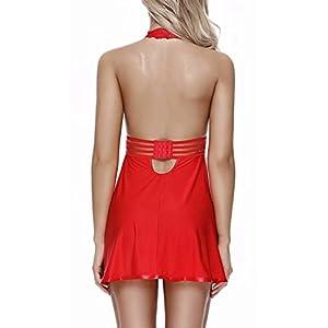 Charmnight Womens Sexy Lingerie Babyoll Nightwear Lace Sleepwear Underwear Set