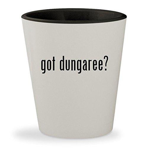 got dungaree? - White Outer & Black Inner Ceramic 1.5oz Shot
