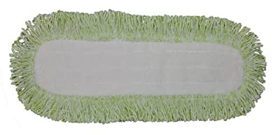 Commercial Microfiber Dry Mop Pad Refill 24 In Green 4 Pack