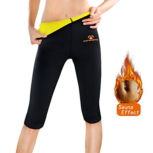 AGROSTE Women's Neoprene Sauna Slimming Pants-Fat Burning Hot Thermo Sweat Sauna Capris Leggings Shapers for Weight (Cami Hot Pants)