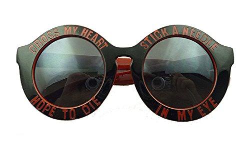 Red Circular Letters of the Alphabet Sunglasses Female Big Box Retro Sunglasses Shade Glasses