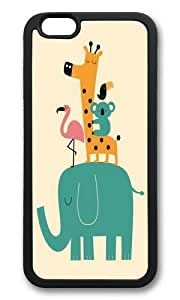 Apple Iphone 6 Case,WENJORS Adorable Moving on Soft Case Protective Shell Cell Phone Cover For Apple Iphone 6 (4.7 Inch) - TPU Black