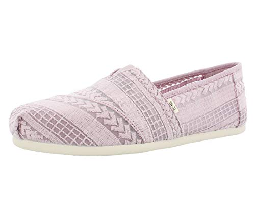 TOMS Women's Alpargata Burnished Lilac Arrow Embroidered Mesh 6 B - Clothing Embroidered Childrens