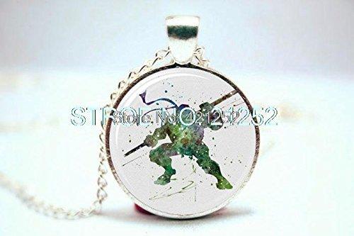 Pretty Lee 2015 Fashion Donatello Teenage Mutant Ninja Turtles Art Print Necklace Glass Photo Cabochon Necklace Christmas gift]()