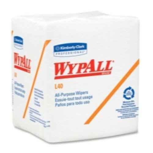 (Kimberly-Clark 5701 Wypall L40 Quarterfold Wipers, White)