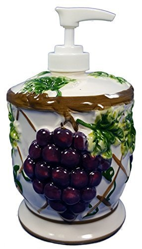 GRAPES 3-Dimensional Soap/Lotion Dispenser NEW by KMC/KK-Grape