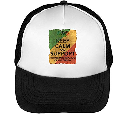 Snapback Beisbol Support Congo Blanco Vintage Calm The Gorras Keep Negro Of Hombre Democratic nFCgv