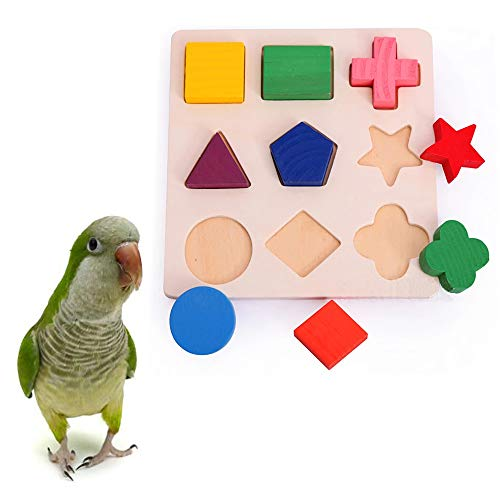 PIVBY Bird Intelligence Training Toy Parrot Puzzle Building Blocks for Parrot Macaw African Greys Budgies Parakeet Cockatiel Conure Amazon Cage -