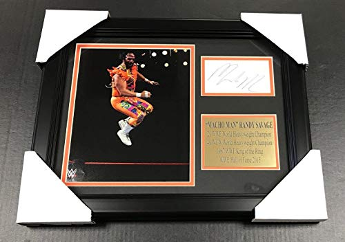 WWF WWE MACHO MAN RANDY SAVAGE Autographed Reprint 8x10 Photo Framed - Autographed Wrestling Miscellaneous Items (Photos Autographed Miscellaneous)