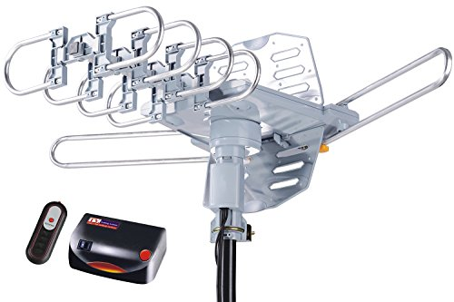 pingbingding HDTV Antenna Amplified Digital Outdoor Antenna--150 Miles Range--360 Degree Rotation Wireless Remote--Snap-On Installation Support 2 TVs