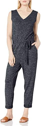 Amazon Brand - Daily Ritual Women's Cozy Knit Sleeveless Tie-Waist Jump