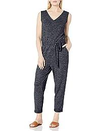 Amazon Brand - Daily Ritual Women's Cozy Knit Sleeveless Tie-Waist Jumpsuit