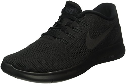 Nike Men's Free RN Running Shoe (9.5, Black/Black/Anthracite)