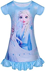 LQSZ Kid Girls Nightgown Night Dresses Princess Pajamas Dress Sleepwear Nightie