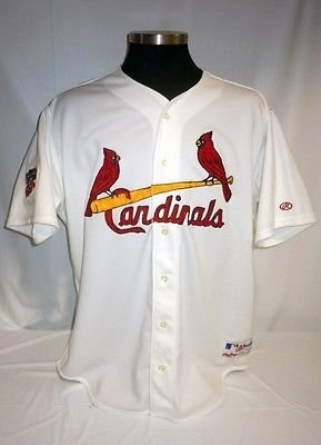 St. Louis Cardinals Vintage Authentic Rawlings Jersey with Jackie Robinson  Patch 4d58b517fcd