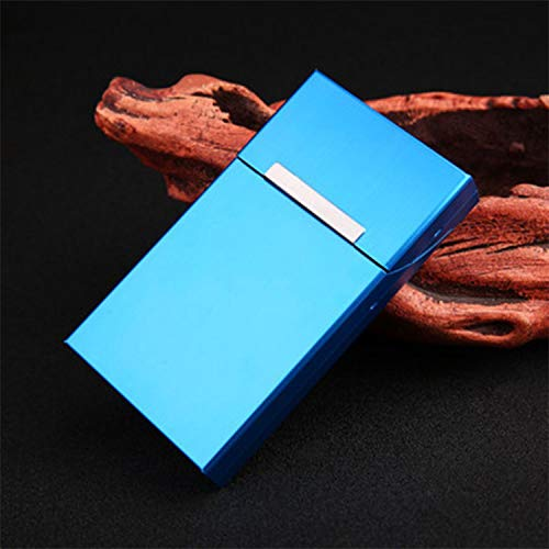 REFURBISHHOUSE Ultra Thin Creative Personality Cigaret Case Slim Metal Slider Cigarette Box Aluminum Gift Box Cigarette Holder