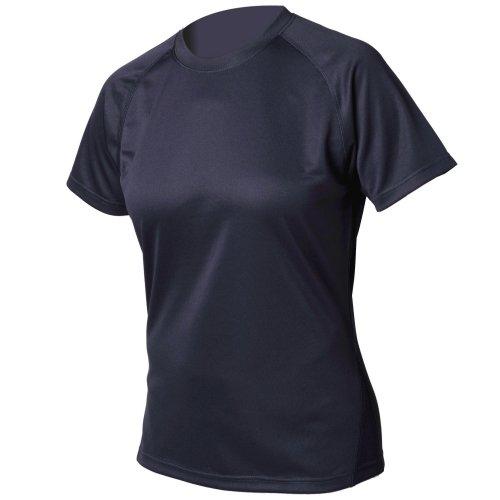 Tombo Teamsport- Camiseta lisa de deportes para chica/mujer con protección UV y tela IQ Azul marino