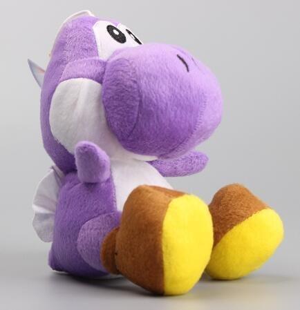 Super Mario Bros Yoshi Dragon 6 Inch Toddler Stuffed Plush Kids Toys - Luigi Purple