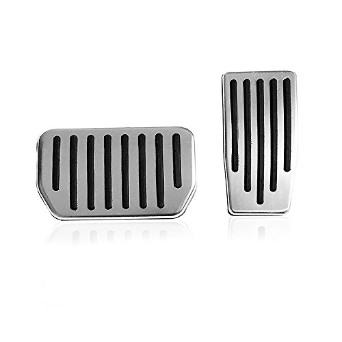 as & Brake Pedals Foot Pedal Pads, Auto Aluminum Pedal Covers for Tesla(A Set of 2) (For Tesla Model 3) ()