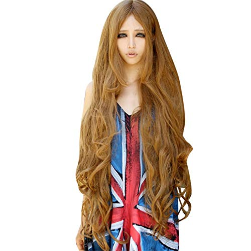 1 piece Wholesale 100CM Girl Natural Party Wig Long Full Curly Hair Fashion Synthetic Wig Styling Accessories #by -