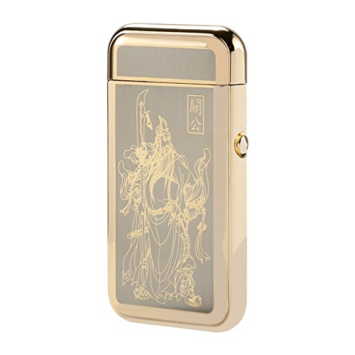 Padgene Windproof Electronic Pulse Arc Cigarette Lighter, USB Rechargeable Flameless Electronic Pulse Cigarette Lighter