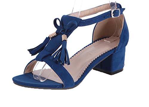 Ouverture D'orteil Boucle Talon Agoolar Correct Femme Bleu À gmblb013447 Sandales xHgwxqX