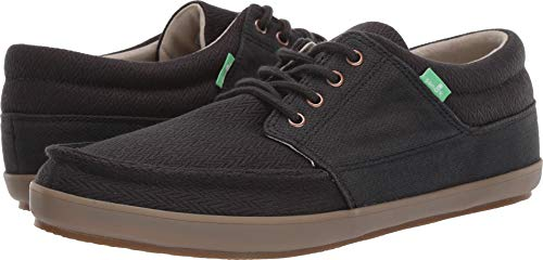 Sanuk Men's TKO Boat Shoe, Black/Gum, 11 M US