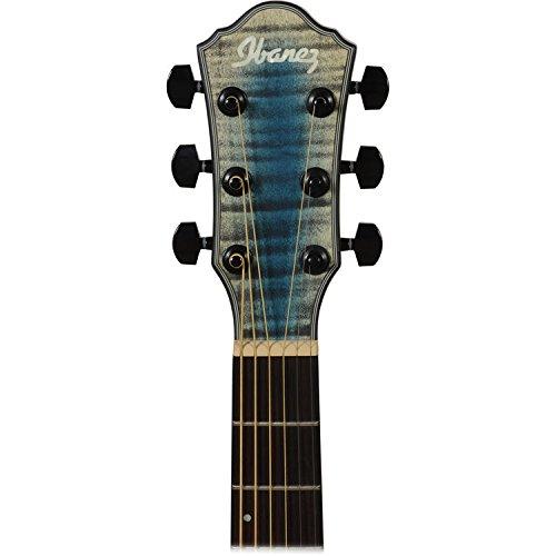 Ibanez aewc32fm Thinline acústica guitarra eléctrica paquete en azul Burst con guitarras guitarra eléctrica acústica de Clip en sintonizador y guitarras ...