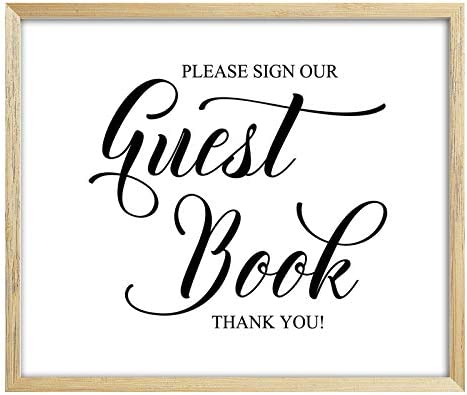 05d729813cb68 Amazon.com: Please Sign Our Guest Book Sign Wedding Guestbook Sign ...