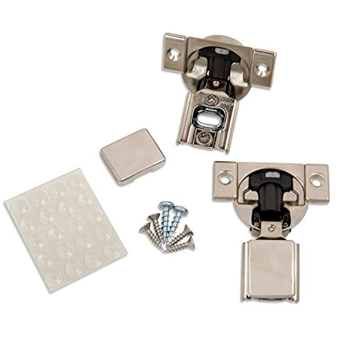 "Blum (20 Pack) 1/2"" Overlay Soft Close Hinge 38N355B.08 105° Blumotion with Screws, Cover Caps, ProCabinetBumpers Bumpers"