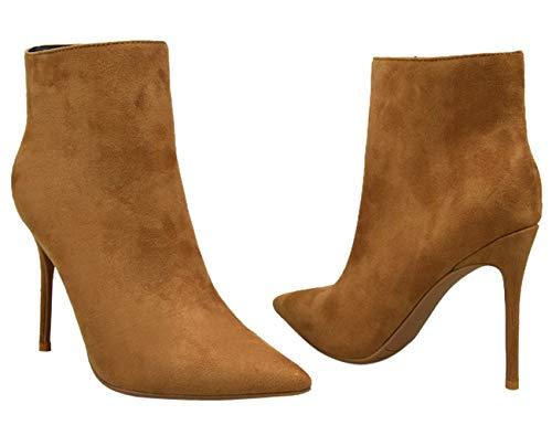 Donna on Stivali Indicata Caviglia Pull Bigtree Boots A Alti Stivaletto Spillo Taglia Classic Grande Punta Suede Faux Khaki Tacchi qR557Ew