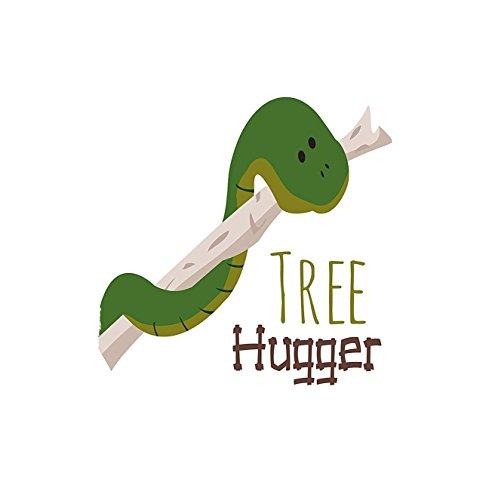 Twin Hugger Comforter Set (VROSELV Custom Blanket Reptile Cute Cartoon Snake From Tree Hugger Love Mascot Humor Reptiles Comic Home Bedroom Living Room Dorm Green Navy Ecru)