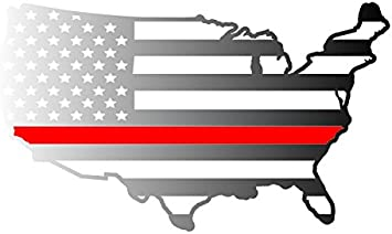 amazon com thin red line lower 48 united states subdued american flag country shape 5 year outdoor lifespan single color vinyl decal small silver automotive amazon com