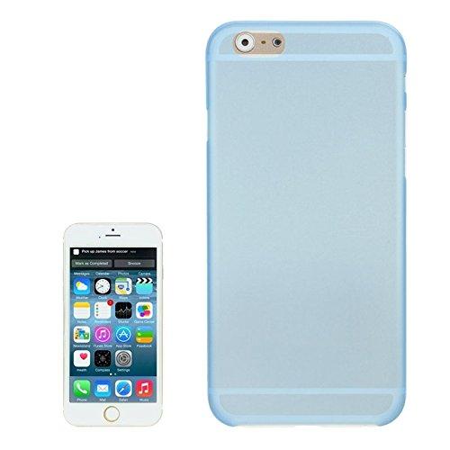 Mxnet 0.3mm Material de policarbonato ultrafino Shell de protección para PC para iPhone 6, versión transparente / edición mate Fundas ( Color : Black ) Blue
