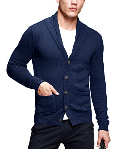 Match Men's Sweater Series Buttoned Cardigan #12088(US S (Tag Size L),Heather ()