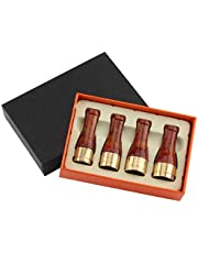 ZHXDXF Household Products 4 Sizes Cigar Holder Pure Copper Resin Cigar Pipe Set, Cigar Mouthpiece Set,Portable Cigar Filter Holder 4 Caliber classic