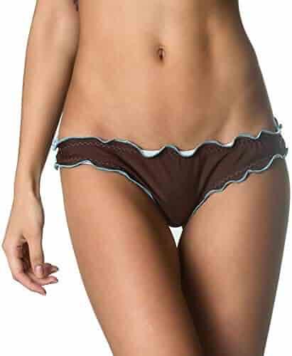 fcefc6329e Coqueta Womens Sexy Hot Brazilian Waved Bikini Bottom Swimsuit Scrunch  Swimwear