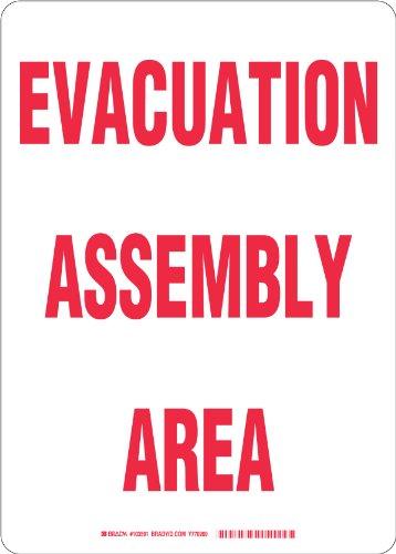 Evacuation Assembly - Brady 103591 Plastic, 14