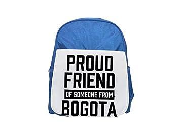 Mochila de Bogotá con estampado de amigos de alguien, bonitas mochilas pequeñas, bonita mochila