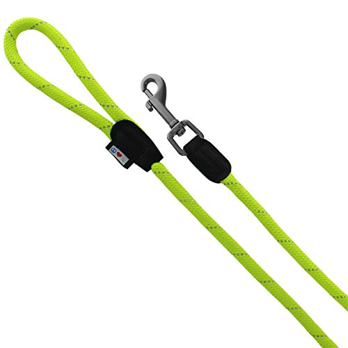 Image of Pawtitas Rope Leash Dog Training 6 ft Reflective Leash Paracord Leash Puppy Leash Dog Leash Medium Leash Large Leash Green Dog Leash