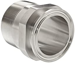 Dixon 21MP-G200 Stainless Steel 304 Sanitary Fitting, Clamp Adapter, 2\