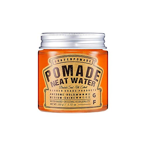 Oil Free Neat Pomade Cream 3.52Oz Water Based Neat Feeling Natural Styling for Fine Hair Type Hold Style Strong&Firm for Man&Boy&Woman&Girl by Night Perfumey Hair Hard Wax Orange Menthol Scent