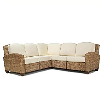 Cabana Banana Honey Oak L-Shaped Sectional Sofa by Home Styles