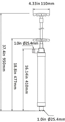 "SEAFLO 37/"" Piston Hand Manual Bilge Pump for Boats Marine RV Campers"