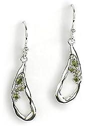 Jody Coyote Earrings Geode Collection GEO-0113-04 CZ Cubic Zirconia Silver