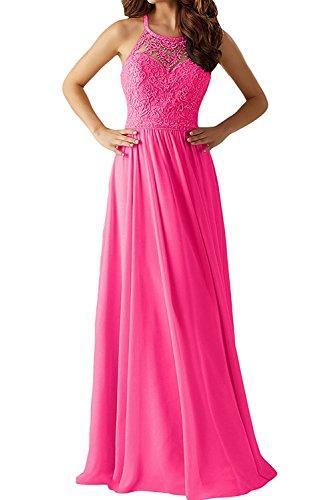 A Charmant Lang Spitze Damen Neu Rosa Chiffon Linie Partykleider 2018 Abendkleider Pink Promkleider Ballkleider SHAnqrSxv