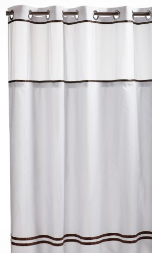 Hookless Fabric Shower Curtain With Built In Liner