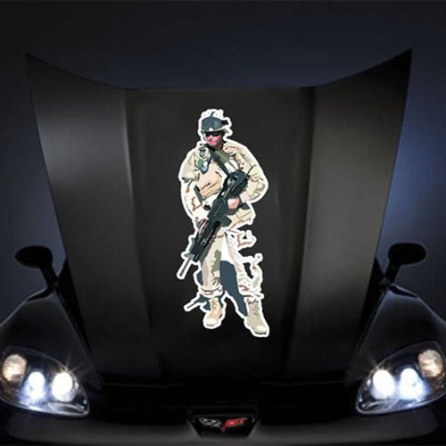 """US Army Soldiers - Iraq - On Patrol 20"""" Huge Decal Sticker"""