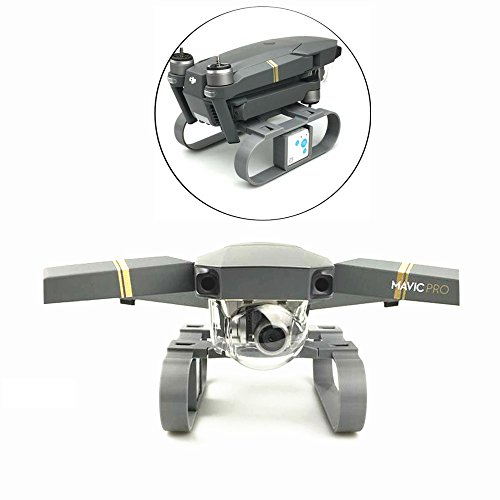 Drone Fans 3D Printed Mavic Pro Lengthened Height Extender Landing Gear Stabilizer with RF-V16 GPS Holder Bracket for DJI MAVIC PRO ()
